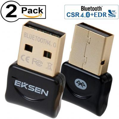 Koeoep USB Bluetooth V 4.0 CSR Mini Dongle Adaptador para PC Computadora port/átil Computadora de Escritorio Est/éreo M/úsica Llamadas de Skype,Teclado,Rat/ón,Soporta Todos los Windows 10 8 7 Vista XP