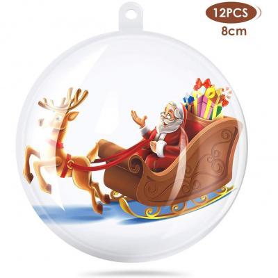 Amzdeal 8 Cm Bolas De Navidad Transparente