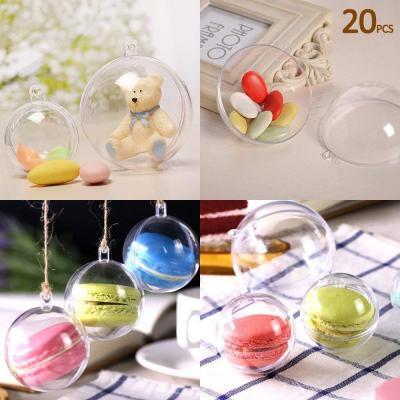 Uten 20 X Bolas De Navidad Forma Redonda Plástico Transparente