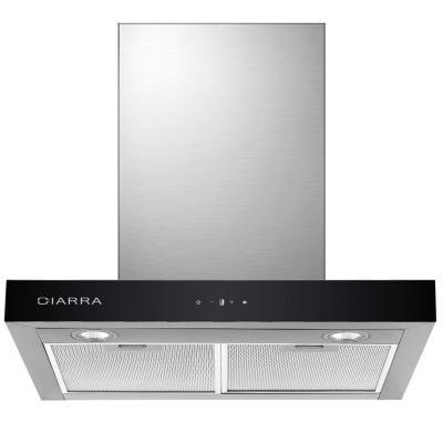 CIARRA Campanas Extractora de Cocina Decorativa 60cm 550 m h Pantalla Táctil Luz LED y 3 Velocidades Reduce Ruido MAX 59 dB