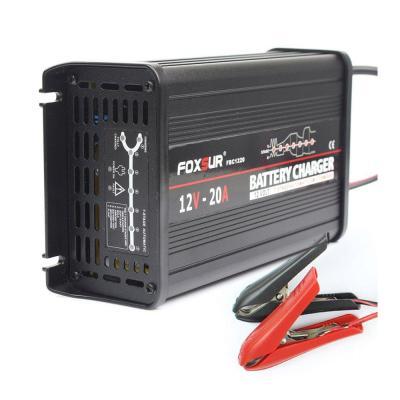 FOXSUR 12V 20A Cargador de batería inteligente de 7 etapas