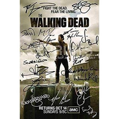 The Walking Dead Poster Photo 12x8 Pulgadas Firmado Pp Elenco Robert Kirkman Andrew Lincoln Norman Reedus