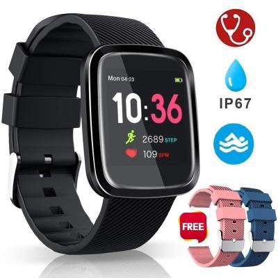 Smartwatch Reloj Inteligente Deportivo Pulsera Actividad Inteligente IP67 Duración Batería 10-15 días 1.3 a Color Cronómetro Podómetro Monitor de Calorías y Sueño SMS SNS para iOS y Android