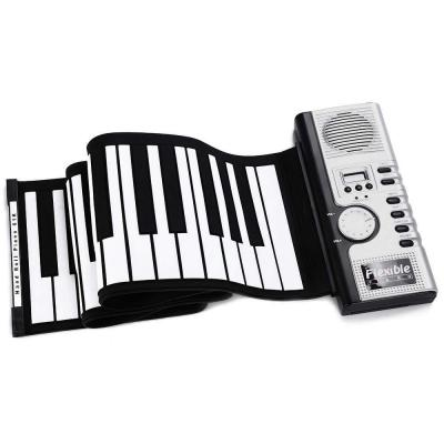 Portátil Flexible 61 teclas de silicona MIDI Teclado digital enrollable para piano tanto para adultos como para niños