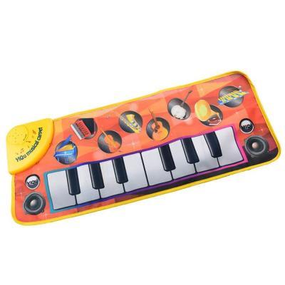 Alfombra musical Tapete para piano Teclado táctil Alfombra para cantar alfombras con 8 Instrumentos musicales seleccionables Sonidos Juguete para bebé Regalo para cumpleaños Festival de Navidad