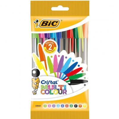 BIC Cristal Multicolour bolígrafos Punta Ancha