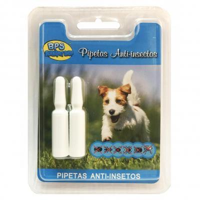BPS Pipetas Repelentes Material Naturales para Perros Gatos Mascotas Anti Ácaros Pulgas Garrapatas Insectos Voladores Parásitos y Parasital