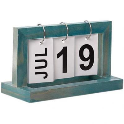 DIY Calendario Sobremesa Bloque de Madera Calendario Escritorio Decoración