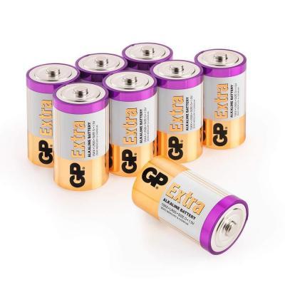 GP, Pack de 8 Pilas D alcalinas (LR20) 1.5V, Duración y Rendimiento excepcional, LR20  13A  MN1300  1.5 Voltios