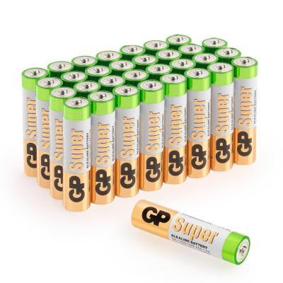 GP, Pack de pilas super alcalinas AAA LR03 (Pack de 32), Diseño variable
