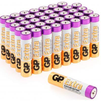 GP, Pack de 40 Pilas AAA Alcalinas , Capacidad y duración excepcional , 1, 5V LR03, Micro, MX2400-24A, AM4