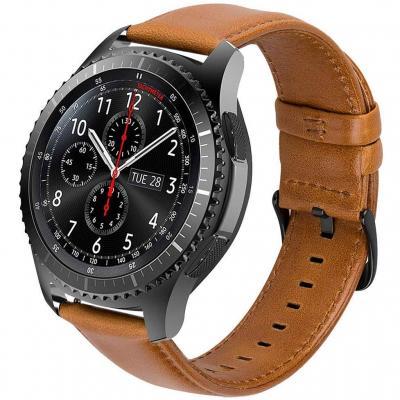Ibazal Correas Galaxy Watch 46mm Cuero 22mm Banda Piel Pulseras Compatible Con Samsung Gear S3 Frontier Classic