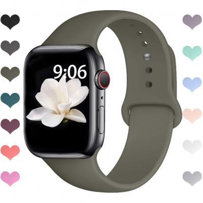 Vodker Compatible Con Para Apple Watch Correas 42mm 44mm 38mm 40mm Silicona Suave Reemplazo Sport Banda Compatible Con Para Iwatch