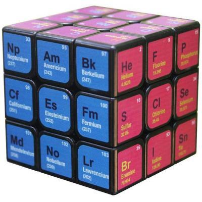 Finelyty 3x3x3 Cubo Mágico Rompecabezas de impresión de Tabla periódica Favor de Fiesta Útiles Escolares Juego de Rompecabezas Juego para Relleno de Bolsa de Regalo de cumpleaños