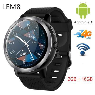 Reloj Inteligente LEMFO LEM8 4G Android 7.1.1 2 GB + 16 GB con cámara GPS de 2 MP y Pantalla AMOLED de 1.39 Pulgadas