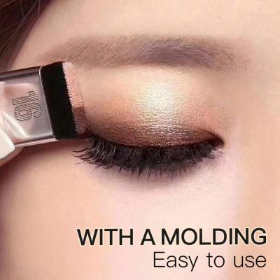 Qewmsg Doble Color Maquillaje de ojos Maquillaje de ojos Sombra de ojos Herramienta de paleta de sombra de ojos a prueba de agua