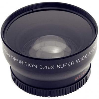 YOUNICER 52 mm 0.45x Gran Angular + Macro 2-en-1 Lente Adicional Boca y Otras cámaras 18-55