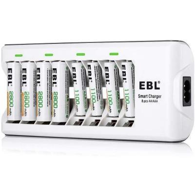 Ebl 808 Cargador De Pilas Con 4 Unidades De Aa 2800mah Y 4 Unidades Aaa
