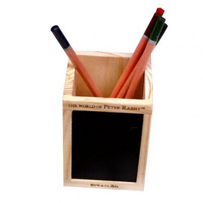 Cosanter Pencil Pen Pot Holder Con Pizarra De Madera