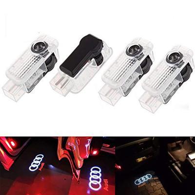 ALBRIGHT 4 piezas de LED proyector puerta logotipo de la sombra de luz Lámparas de bienvenida de cortesía Luces Kit